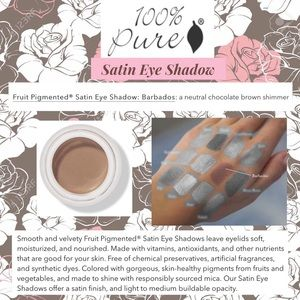 100% PURE: Satin Eyeshadow - Barbados